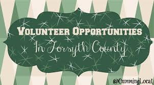 places to volunteer for thanksgiving volunteer opportunities in forsyth county archives local