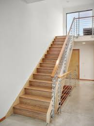 Wooden Stairs Design Decorating Cable Wire Stairs Narrow Block House Design With White