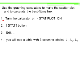 Graphing Calculator With Table Regression And Median Fit Lines Ppt Video Online Download