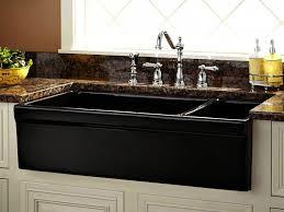 kitchenucet black particles collar handle spout retaining