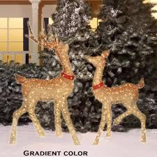 lawn reindeer with lights christmas deer decorations yard psoriasisguru com