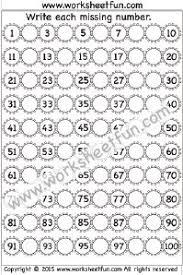missing numbers u2013 1 100 u2013 one worksheet printable worksheets