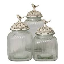 glass kitchen canister sets glass kitchen canisters jars