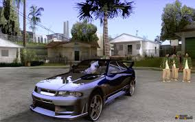 nissan skyline modified skyline r33 tokyo drift for gta san andreas