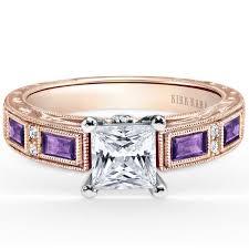 amethyst gold rings images Kirk kara quot charlotte quot baguette cut purple amethyst engagement ring jpg