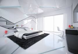 modern monochrome bedroom home and interior