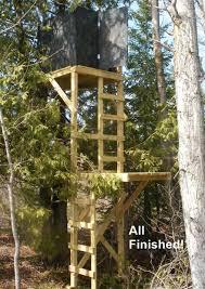 free deer stand building plans blinds ladder u0026 platform stands