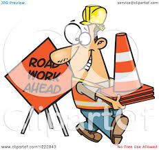road construction workers clipart free free road construction