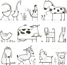 domestic animals pictures for kids for colouring