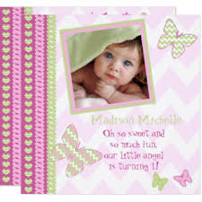 butterfly 1st birthday invitations u0026 announcements zazzle