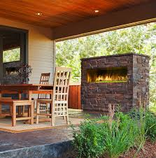 Sided Outdoor Fireplace - majestic palazzo 48