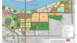 University Of Arizona Map by Preliminary Plan For Asu Athletic Facilities District In