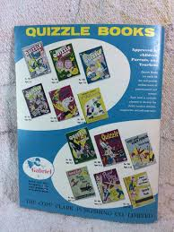 quizzle book paint color and draw activity book unused 1957
