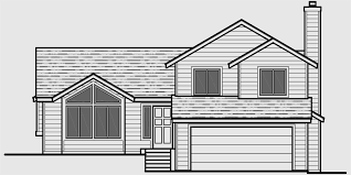 split house plans split level house plans 3 bedroom house plans 2 car garage hous
