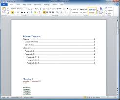 create table of contents in word how to generate a table of contents for an onenote 2010 exported to