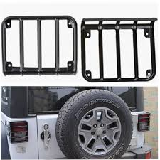 jeep wrangler black lights matte black light guard for 2007 2017 jeep wrangler jk unlimited