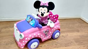 pink toddler car pink minnie mouse plays with rc ride on cars and does magic