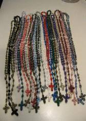 15 decade rosary handmade cord rosaries