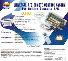 universal air conditioner control system with pcb and remote control