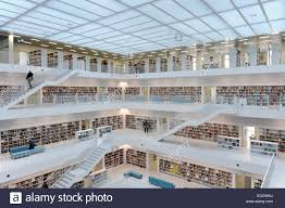 galeries with bookshelves in the main interior room public