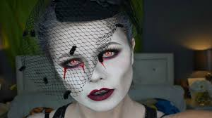 dead widow halloween makeup tutorial danielle scott youtube