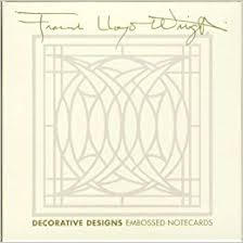 embossed note cards frank lloyd wright decorative designs embossed notecards frank