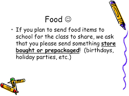 send food welcome to kindergarten ppt online