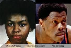 Michelle Obama Meme - michelle obama totally looks like patrick ewing cheezburger