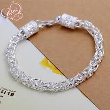 silver plated bracelet chain images Free shipping trendy bracelet silver plated bracelet fashion jpg