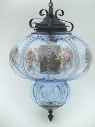 antique hanging lamps huge vintage swag lamp hanging light w ice