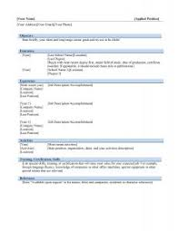 Free Word Resume Templates Microsoft Word Resume Templates Free Resume Template 18 Debra With