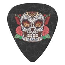 skull tattoo guitar picks u0026 accessories zazzle