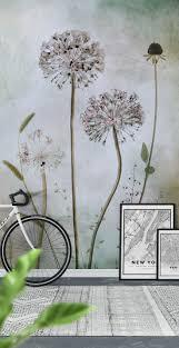 45 best flower wall murals images on pinterest flower wall allium wall mural wallpaper