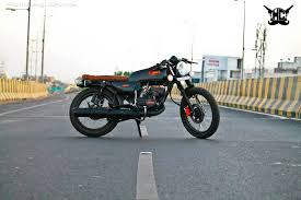 amber modified yamaha rx135 cafe racer rx100 pinterest