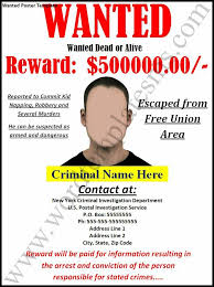 printable wanted poster template job billybullock us