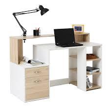 White Computer Desk Homcom Modern L Shaped Workstation Computer Desk