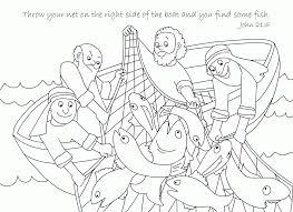 free bible coloring page a net full of fish coloring home