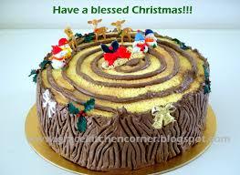 Christmas Cake Decorations B M by Kitchen Corner Christmas Log Cake