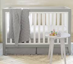 Convertible White Crib Tatum Convertible Crib Pottery Barn
