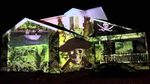 halloween light display projector 2013 pirate halloween house projection live hd youtube