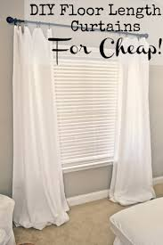 Cheap Window Treatments by Diy Floor Length Curtains Apartments Apartment Ideas And House