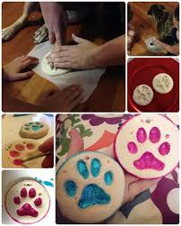 paw print ornaments we used a salt dough recipe to make these
