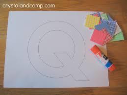 letter of week preschool craft q is for quilt activities