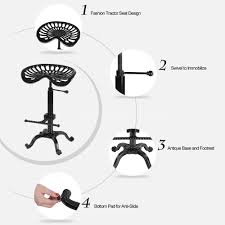 Tractor Seat Bar Stools For Sale Tractor Seat Bar Stool Adjustable Swivel Metal Barstool Dining