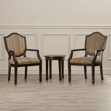 Accent Chair And Table Set Chairs Stylish Accent Chair And Table Set With Striped Chairs