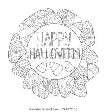 candy corn vector coloring page happy stock vector 724075108