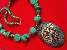 turquoise stone necklace set images Indiann jaipur turquoise feroza stone necklace antique designer jpg