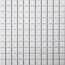 white glazed ceramic mosaic puzzle backdrop matte surface kitchen