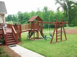 Backyard Play Structure by 15 Best Deck Ideas Images On Pinterest Backyard Ideas Outdoor