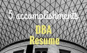 Oracle Dba Resume Sample by 5 Accomplishments To Make Your Database Administrator Resume Stand